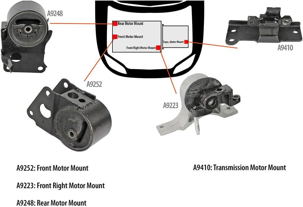 Brand New Engine Mount W// Sensor Rear For Nissan Altima Maxima Murano Quest 3.5L