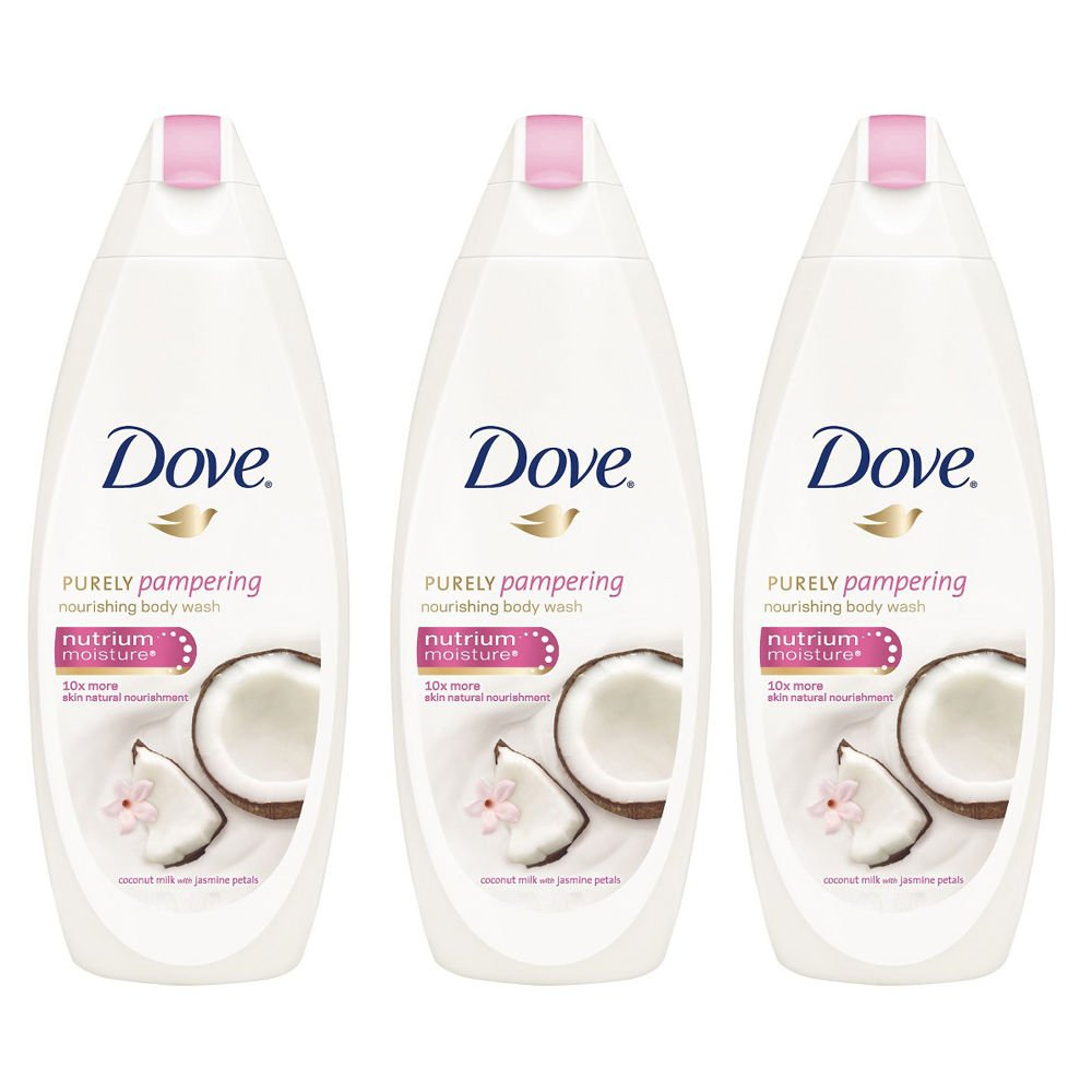Dove Purely Pampering Coconut Milk with Jasmine Petals Body Wash 500ML (3 pack) International Version  by Dove