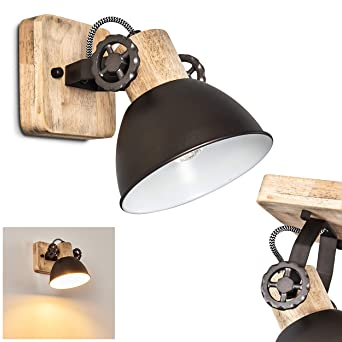 40 Watt max 1 x E14-Fassung Wandspot im Retro//Vintage Design verstellbare Wandlampe aus Metall in Rostbraun//Wei/ß Wandleuchte Tina 1-flammig f/ür LED Leuchtmittel geeignet