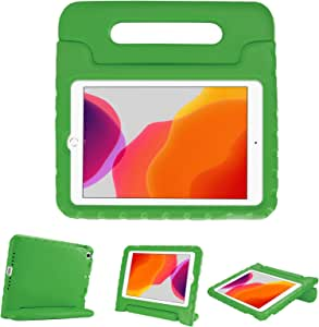 """ProCase Kids Case for 10.2"""" iPad 8th Gen 2020 / 7th Gen 2019 / iPad Air 10.5"""" (3rd Gen) / iPad Pro 10.5"""", Shockproof Convertible Handle Stand Cover Light Weight Kids Friendly Case -Green"""