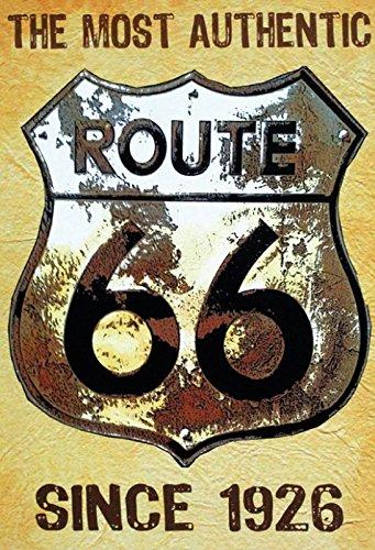 Cartel de Chapa genérica 20 x 30 cm The Most Authentic Route ...