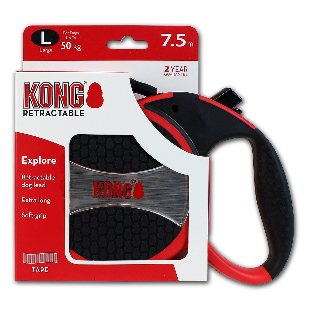 Red 7,5m Tape Large KONG Explore Retractable Dog Leash