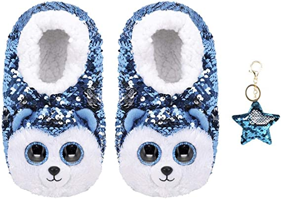 4-6 Dotty - Ty Ty Beanie Boo/'s Flippable Fashion Slipper Size Large