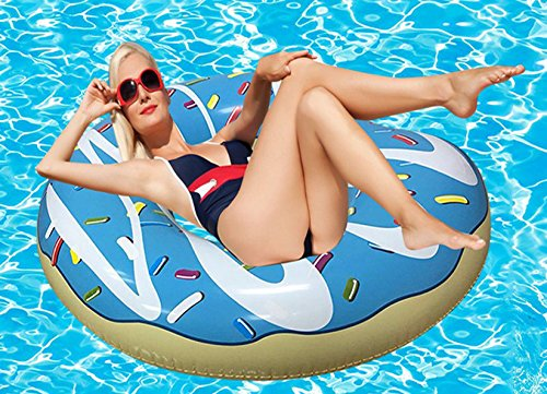RiffSpheres Gigantic Donut Pool Float Toy - Great Christmas Gifts Idea