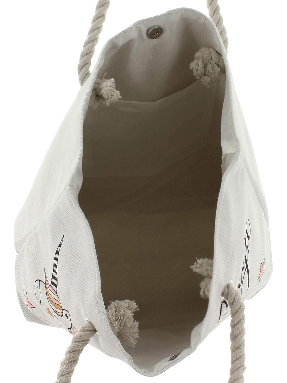 3ae38a89f7ee7 Shopper Tasche Magisches Einhorn Shopping Bag Weiß one size  Amazon.de   Schuhe   Handtaschen