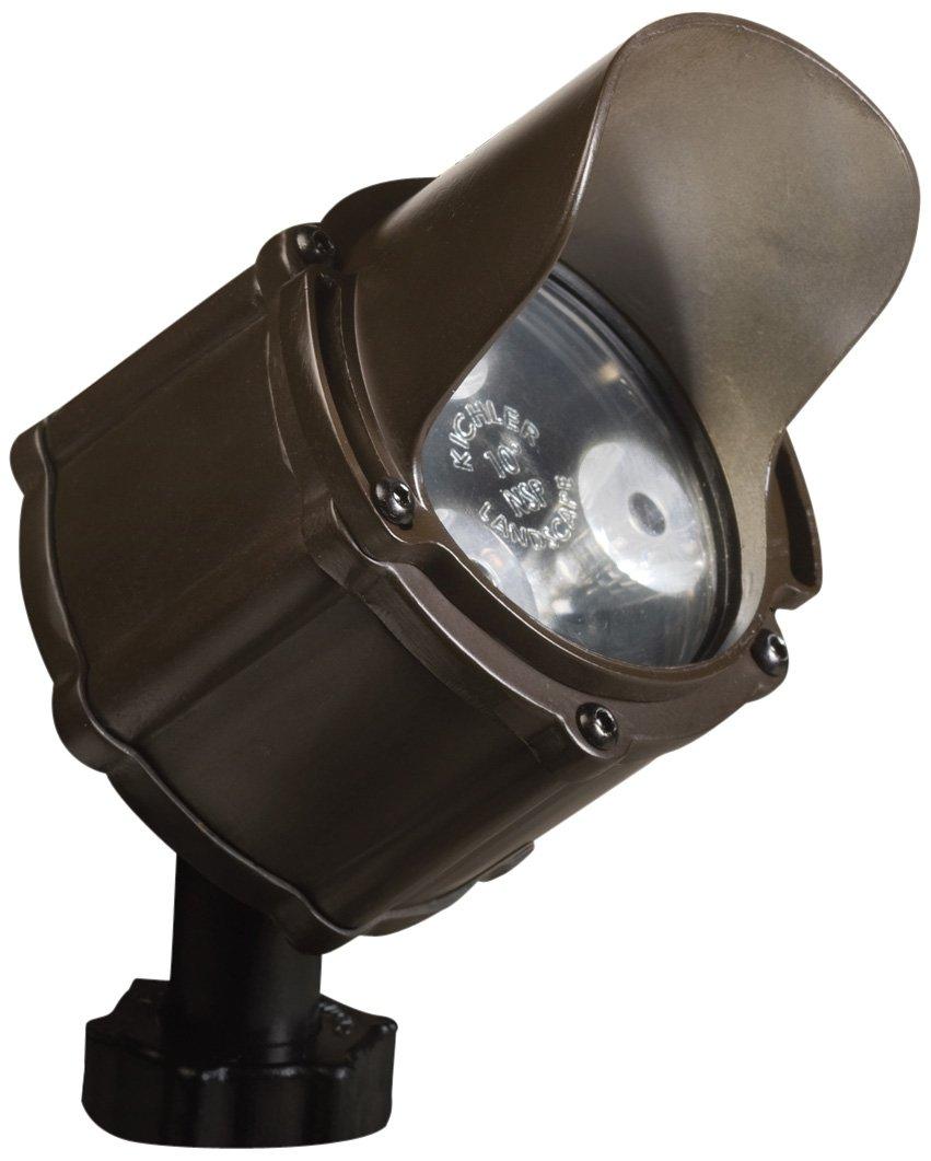 Kichler 15731BBR, Landscape LED Low Volt Solid Brass Spot Accent Lighting, Bronzed Brass