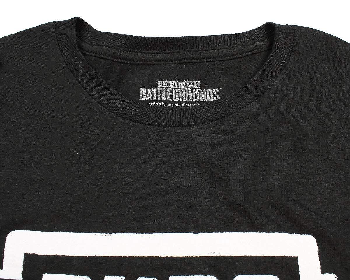 e2b11d55893a Amazon.com  PUBG Shirt Playerunknown s Battlegrounds Logo Video Game  Licensed T-Shirt  Clothing