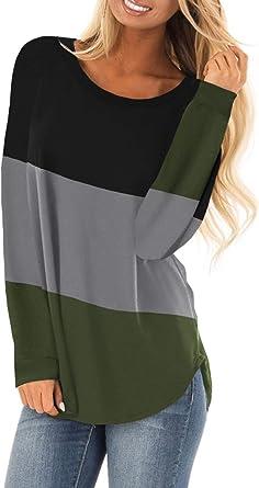 Aleumdr Mujer Blusa Suelta Camisa Ocasional Camisa Túnica Camiseta Suelta de Mujer Verde Size XXL: Amazon.es: Ropa y accesorios