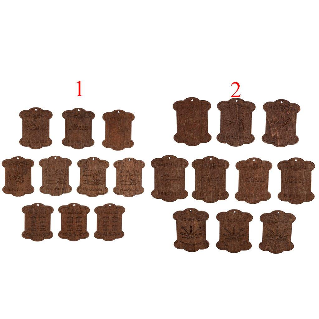Gazechimp 20 Piezas Bobina de Hilo Seda de Madera para Bordado Organizador de Hilos Suministros de Punto de Cruz Fuentes de Costura