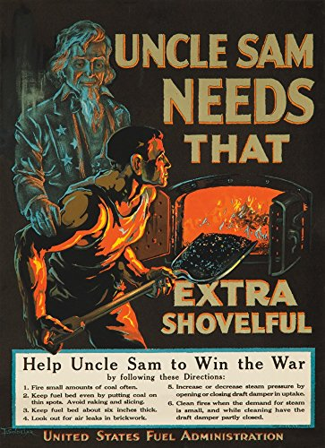 Uncle Sam wall art Needs That Extra Shovelful - Patriotic wall art