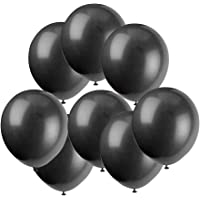 "GuassLee 100 ct Black Balloon 10"" Latex Helium Balloons for Wedding Birthday Party Festival Christmas Decorations"