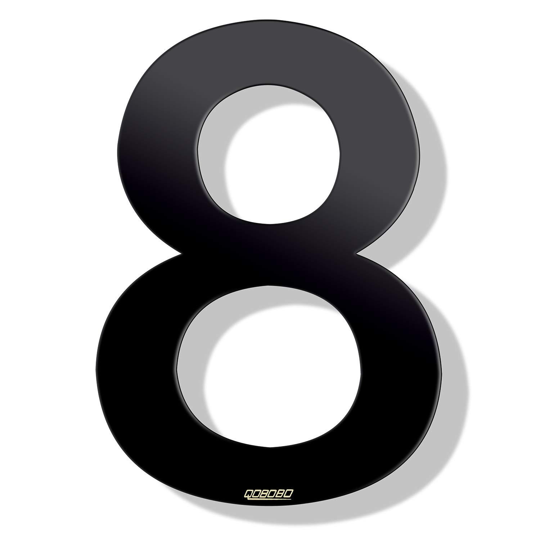 1 pieza qobobo/® N/úmeros Casa Negro 0 Cero de acero inoxidable 304 Pulverizar 904 Polvo Antracita Mate 200 mm