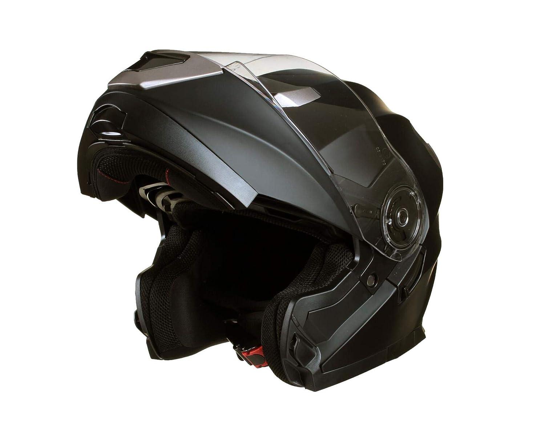 Qtech MODULAR Flip-Up Motorcycle Helmet with Double Visor WHITE Large 59-60cm