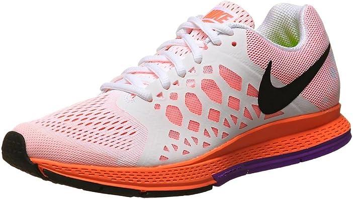 Nike Zoom Pegasus 31 - Zapatillas de Running para Mujer, Color Blanco/ Naranja/Negro, Talla 38: Amazon.es: Zapatos y complementos