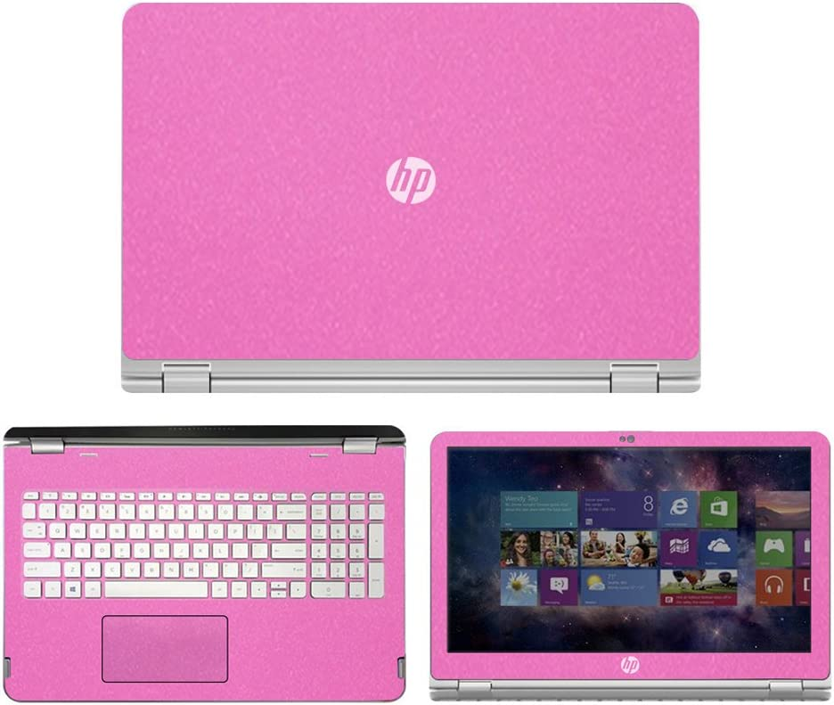 "Sparkling Pink Skin Decal wrap Skin case for HP Envy x360 m6 Series m6-w101dx m6-w102dx m6-103dx m6-105dx 15.6"" Laptop"