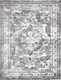 Unique Loom 3134089 Sofia Collection 9 Feet (9' x) Traditional Oriental Distressed Vintage Area Rug, 9 x 12, Gray