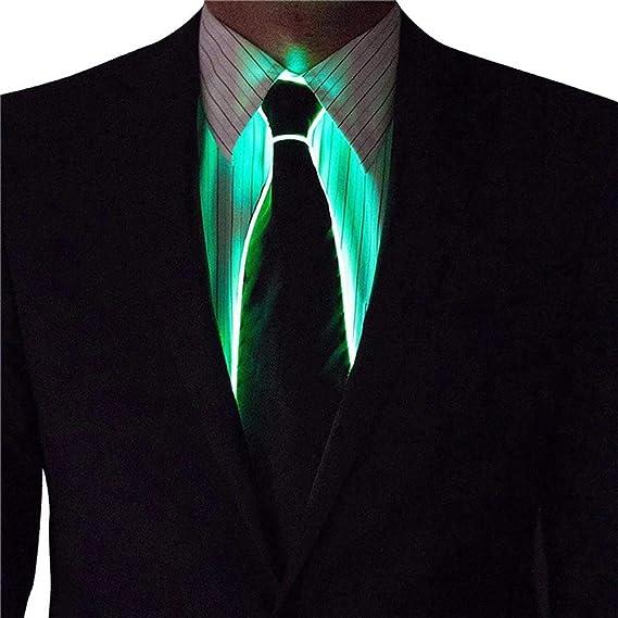 MAICOLA EL Tie LED Enciende Rayada Luminoso Corbata para los ...