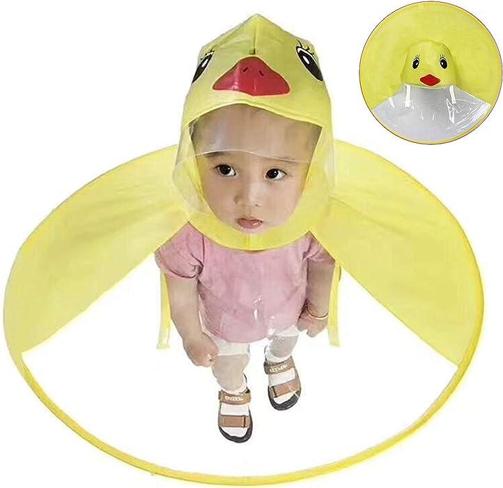 f0ef8b8379c70 ZHENDUO OUTDOOR Kids Yellow Duck Raincoat Rain Wear Cartoon Umbrella Hat  Hands Free UFO Cloak Hooded ...