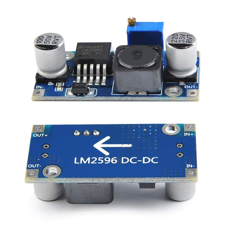 iwobi 6 Pcs Dc-to-DC Module LM2596 DC-DC Buck Converter 3.0-40V to 1.5-35V Adjustable Boost Converter Power Supply Step Down Regulator