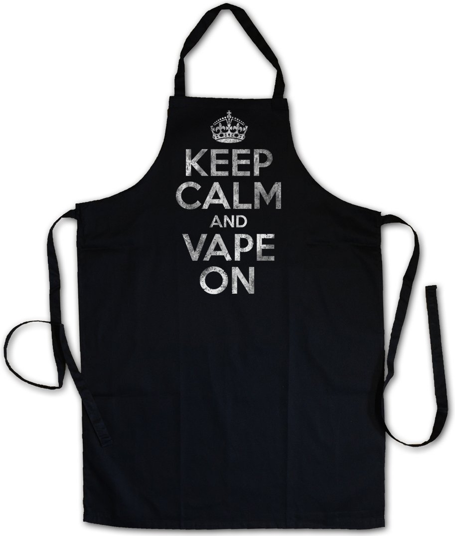 Urban Backwoods KEEP CALM AND VAPE ON BARBECUE BBQ COOKING KITCHEN GRILLING APRON