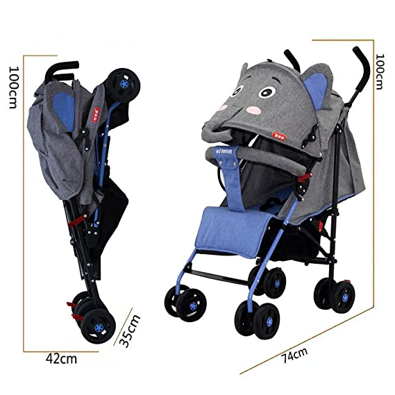 LBLA Baby Stroller Lightweight with Storage Basket,Compact Stroller/Pram for Baby/Kids Sit and Lie 0-3 Years