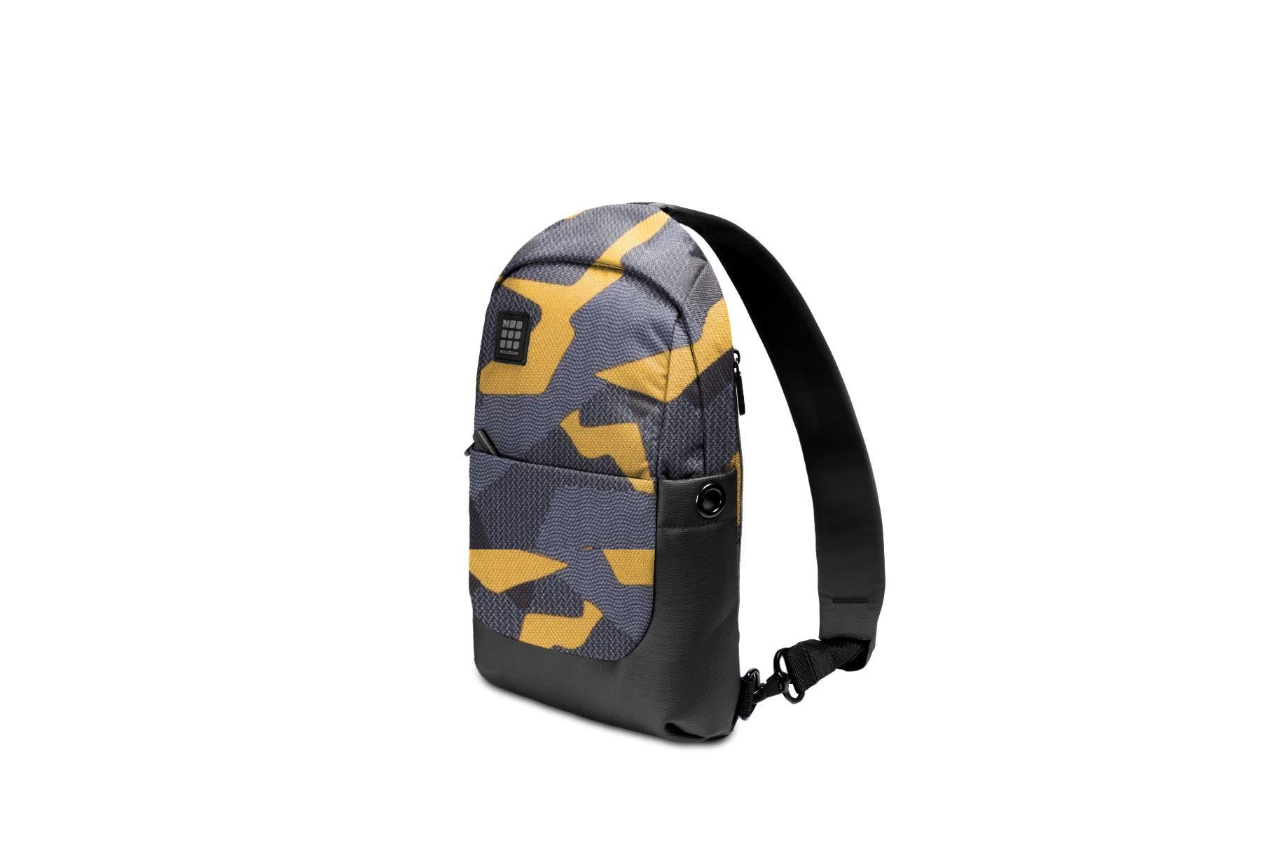 Moleskine ID Sling Backpack, Camo Black Yellow