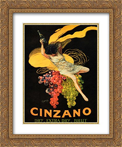 Cinzano Framed - Asti Cinzano 2X Matted 15x18 Gold Ornate Framed Art Print by Leonetto Cappiello