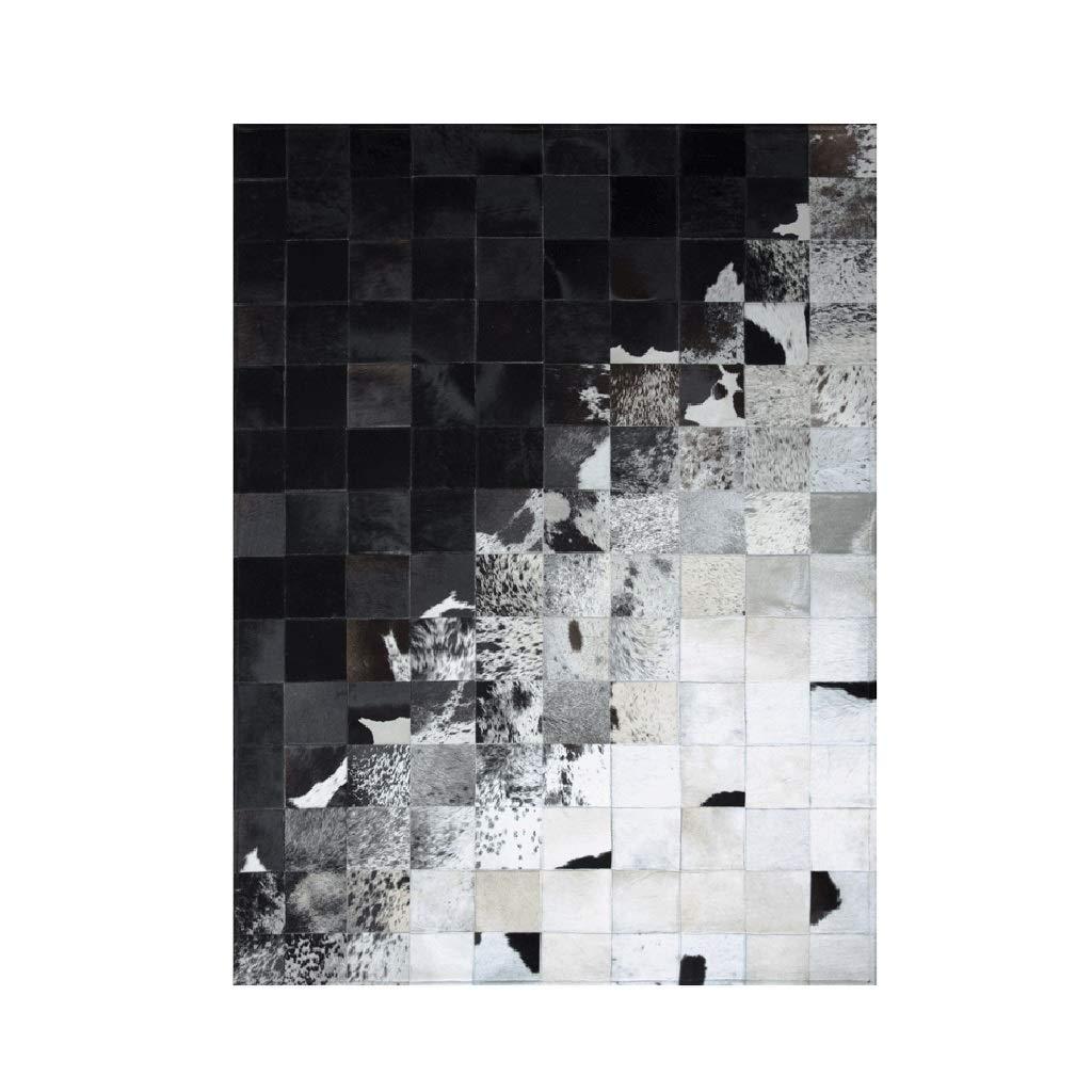 ラグ カーペット黒と白のインクのグラデーションの革カーペットクリエイティブリビングルームベッドルームソファカーペット カーペット (Color : Black, Size : 120*180cm) 120*180cm Black B07TDKQ5QD