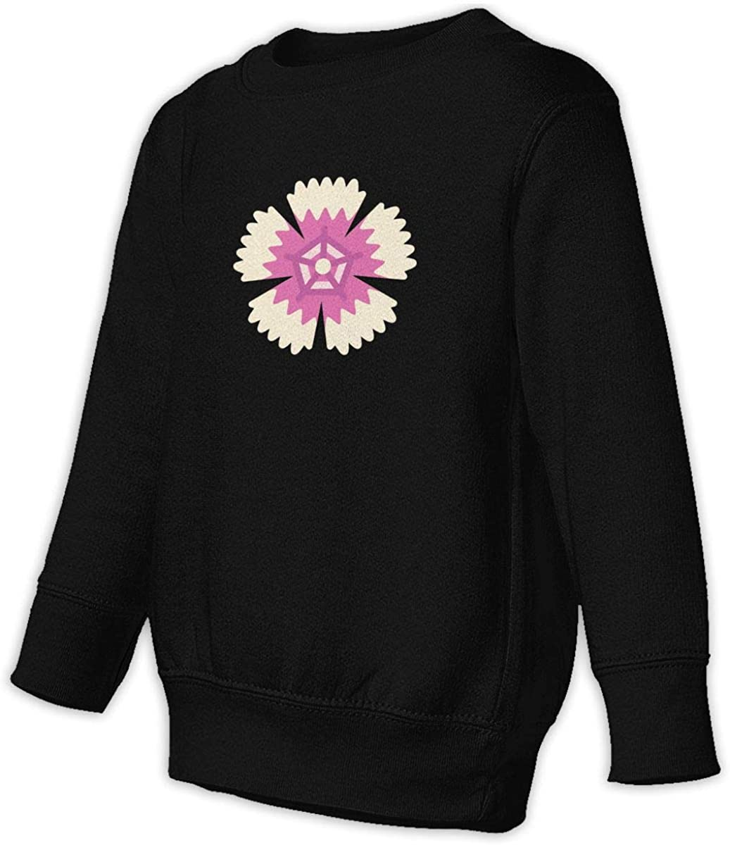 Fleece Pull Over Sweatshirt for Boys Girls Kids Youth Dianthus Unisex Toddler Hoodies