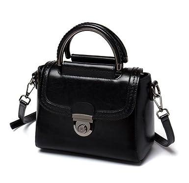7be9fec2b5f3b Frauen Echtes Leder Handtasche Damen Portable Umhängetasche Bürotasche Totes  Top Griff Satchel Umhängetasche