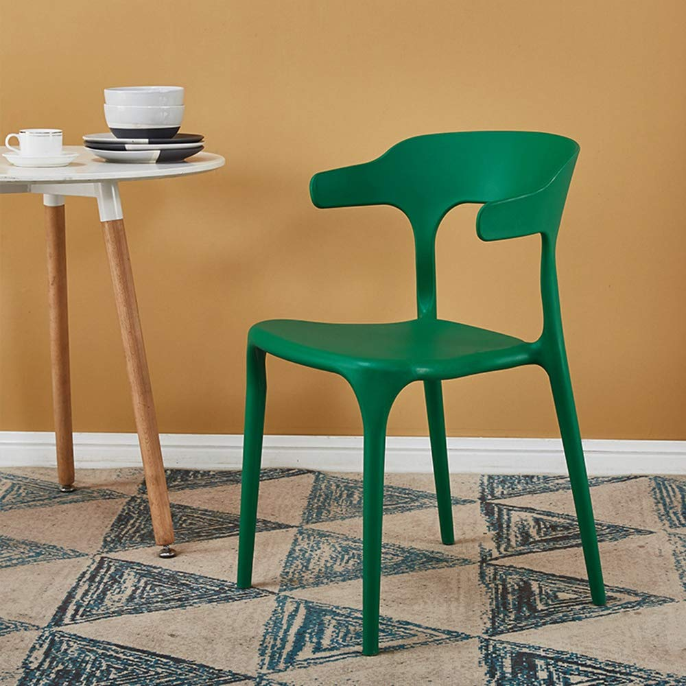 vert  Chaise chaise en plastique loisirs Bureau corne chaise empilable en plastique tabouret épaississeHommest adulte salle à hommeger chaise en plastique Retro Lounge chaise restaurant Accueil cuisine,marron