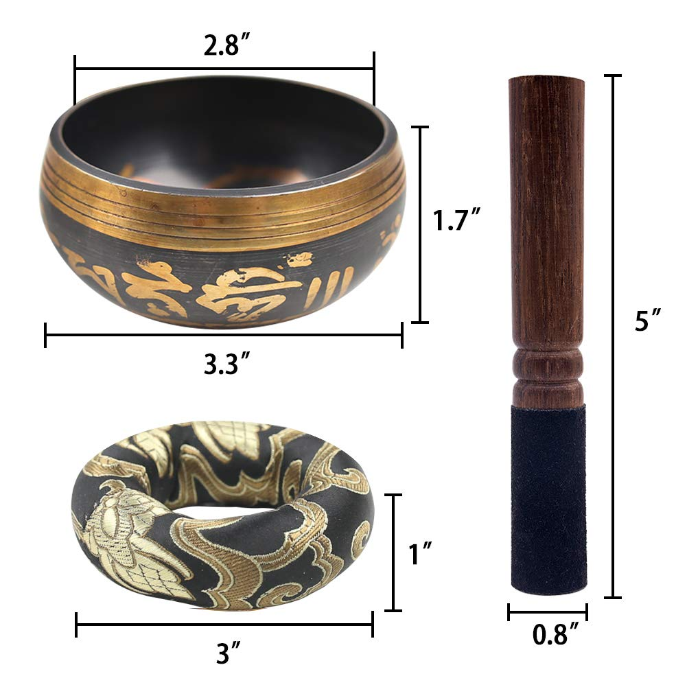 DomeStar Tibetan Singing Bowl Set Meditation Bowl