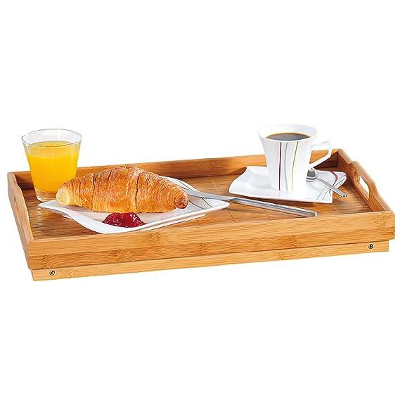Kesper 77614 - Bandeja de desayuno con patas, madera de bambú: Amazon.es: Hogar