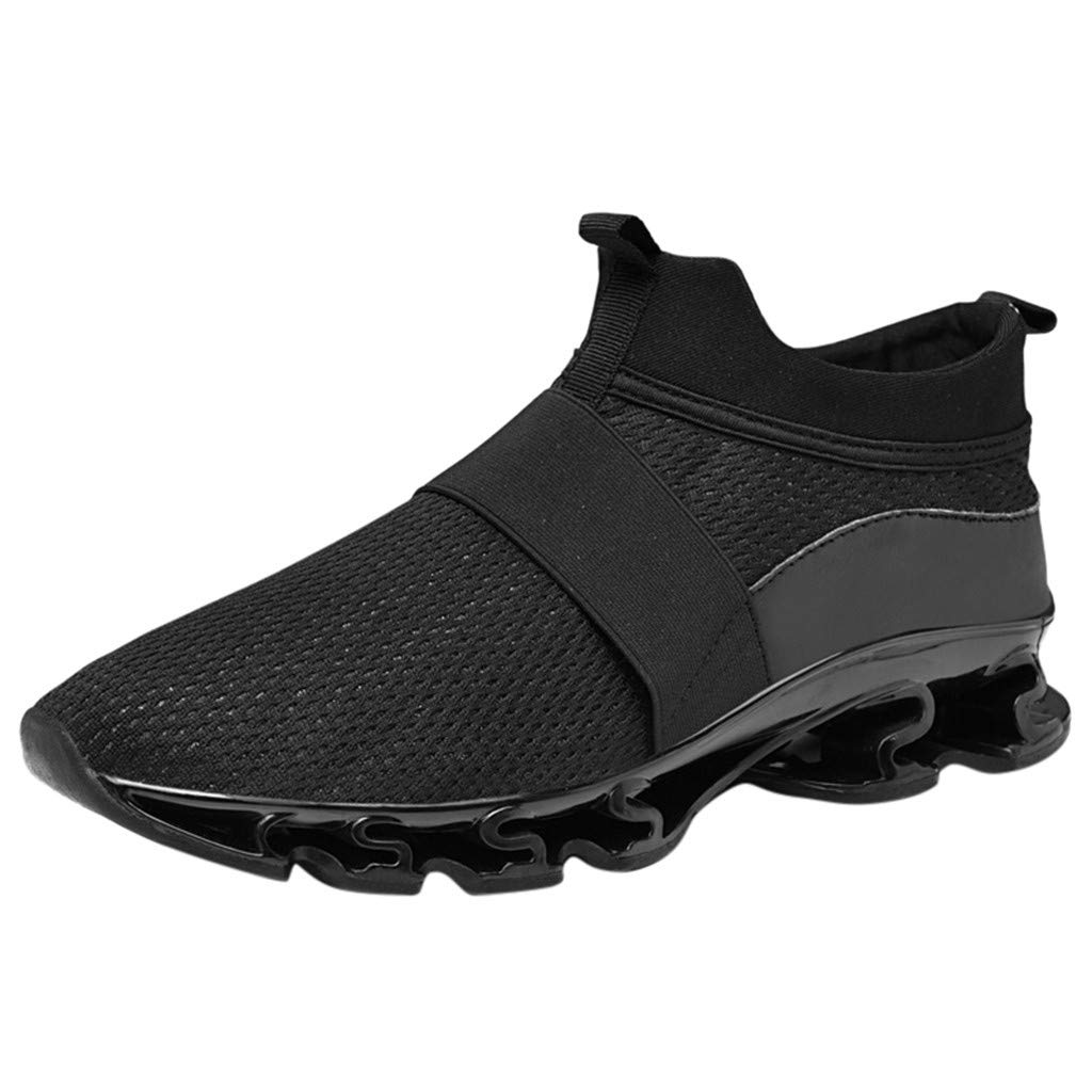 Respctful ♫♫Mesh High Top Sneakers Men Running Shoes Lightweight Breathable Casual Sports Fashion Walking Shoes Black