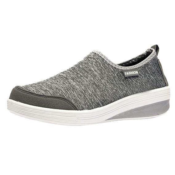 Zapatillas de Mujer BaZhaHei Mujer Zapatos deportivos de malla transpirable con parte inferior plana para mujer Zapatillas de deporte ligeras para mujer ...