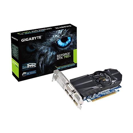 Gigabyte NVIDIA GeForce GTX 750Ti - Tarjeta gráfica (400 W, GeForce GTX 750Ti a 1033 MHz, 2 GB de RAM, 2 x HDMI), Negro