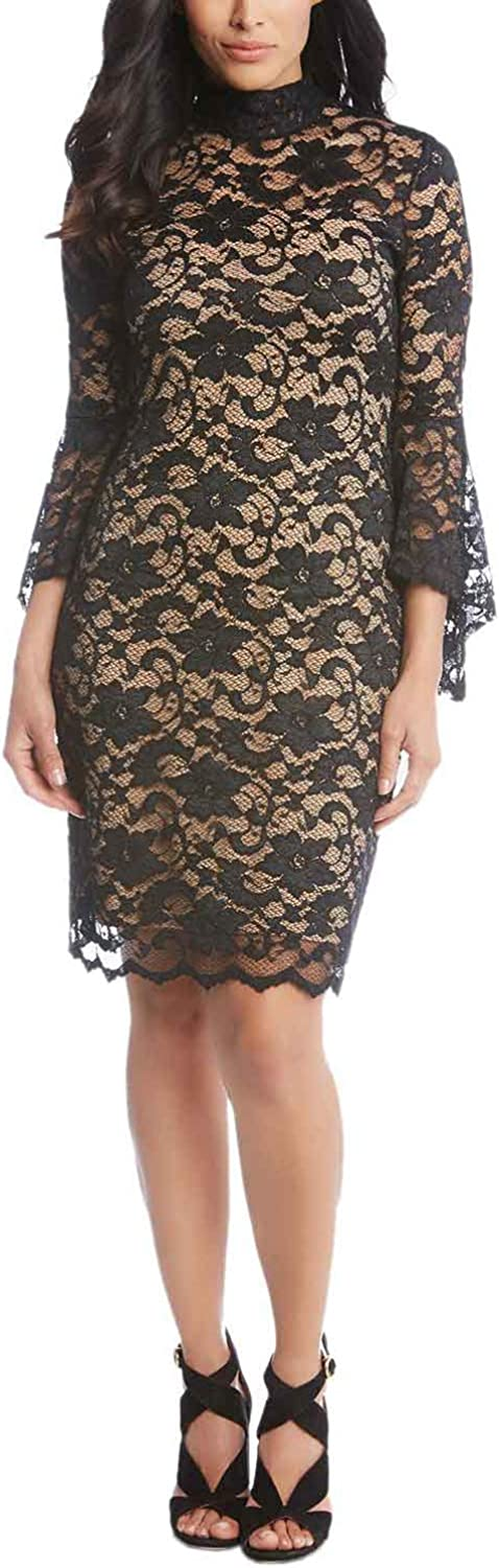 Karen Kane Womens Laila Lace Dress