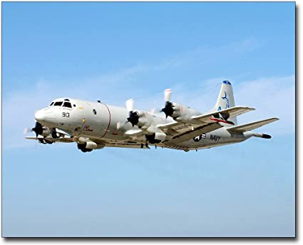 amazon com navy p 3 p3 c orion aircraft in flight 8x10 silver