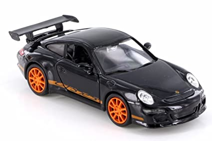 Amazon Com Welly Porsche 911 997 Gt3 Rs Black W Orange 42397d