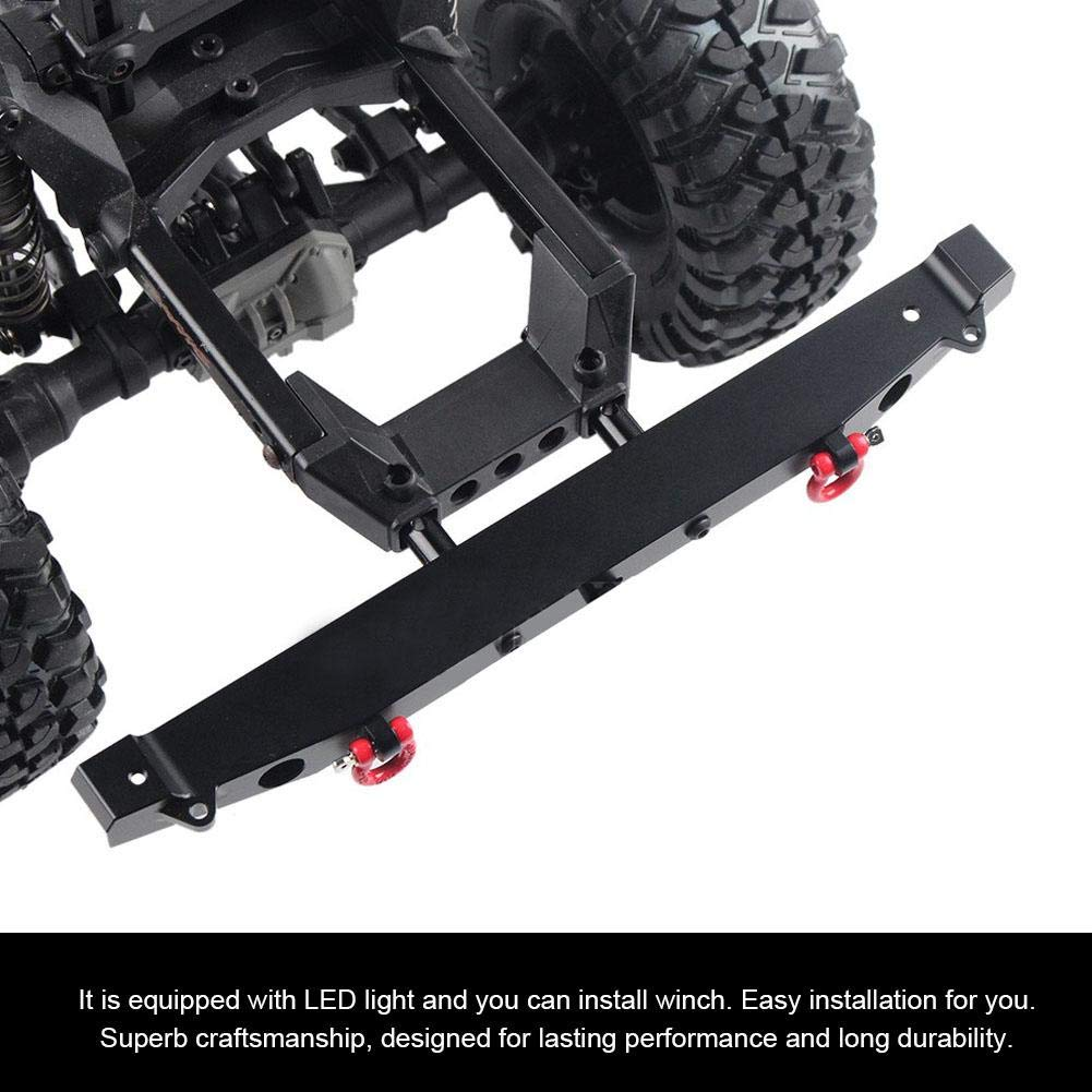 RC Crawler Car Bumper Front Rear Bumper with LED Lights Winch Mount for Traxxas TRX-4 Axial SCX10 90046 Accessory Parts