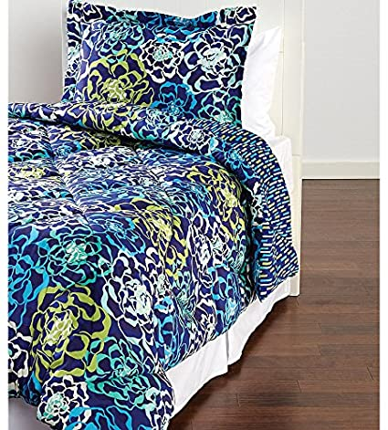 Amazoncom Vera Bradley Katalina Blues Twintwin Xl Comforter Set