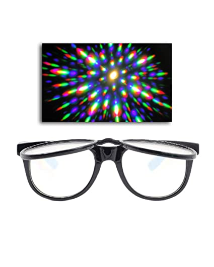 e48f70fe8c Amazon.com  EmazingLights Flip Up Diffraction Prism Fireworks Rave ...