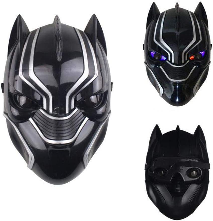 Baipin Máscara de Pantera Negra con Luces LED, Cosplay Disfraz ...