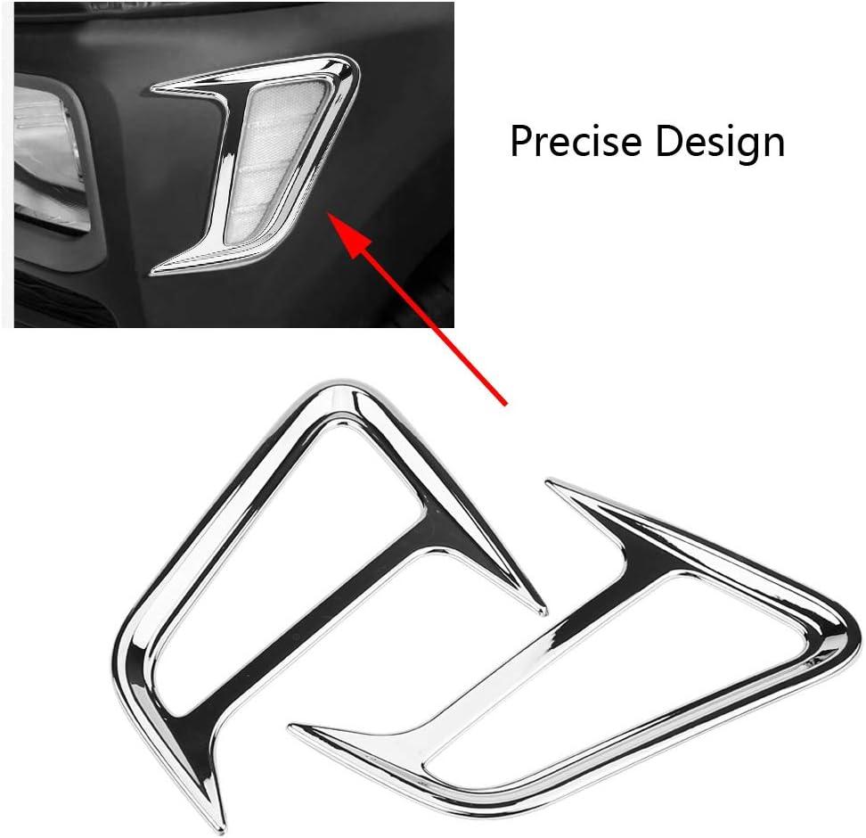 Terisass Car Light Frame Pair of Automobile Side Lamp Frame Trim Cover ABS Plastic Light Cover Trim for Encino Kauai Kona 2017 2018 2019 2020 SUV