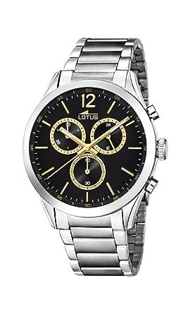 1e71409d72bb Lotus Watches Reloj Cronógrafo para Hombre de Cuarzo con Correa en Acero  Inoxidable 18114 4  Amazon.es  Relojes