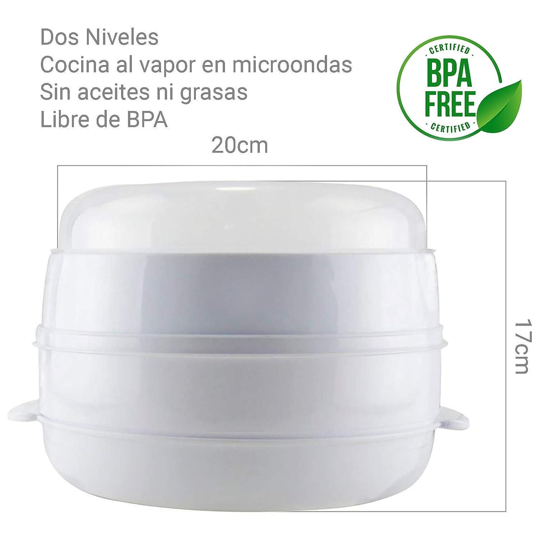 MovilCom® - Olla a vapor 2 niveles Microvap | cocinar al vapor ...