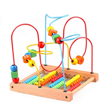 c4eb4b7df9754 Amazon.com   Beads Labyrinth Toy Early Education Learning Toys Suitable for  Children