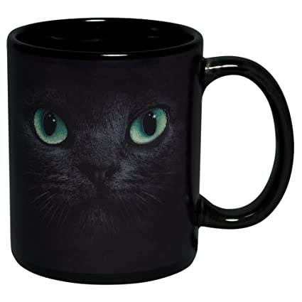 Amazon Com Black Cat Coffee Mug Kitchen Dining