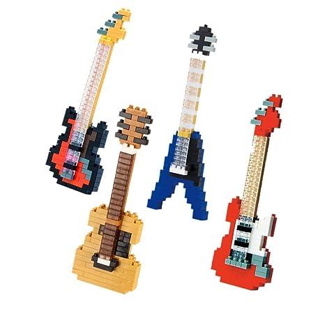 SainSmart Jr. paquete de 4 bloques de diamante azul rojo de la guitarra el¨