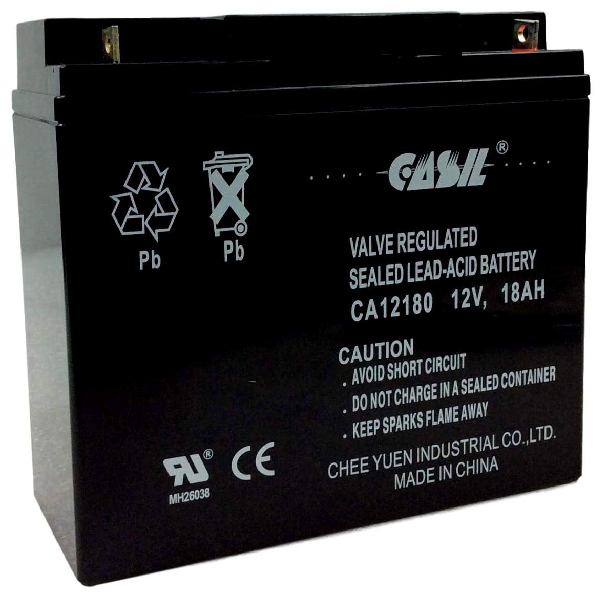 12V 18AH CA12180 Casil Rechargeable AGM Battery